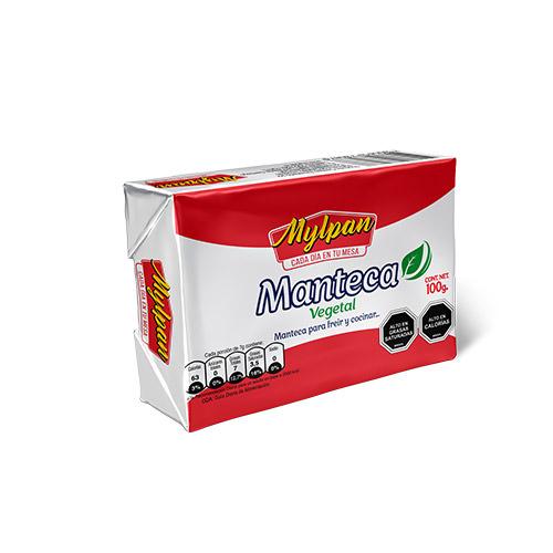 Manteca Vegetal Mylpan Caja 20 unidades de 100 gr.