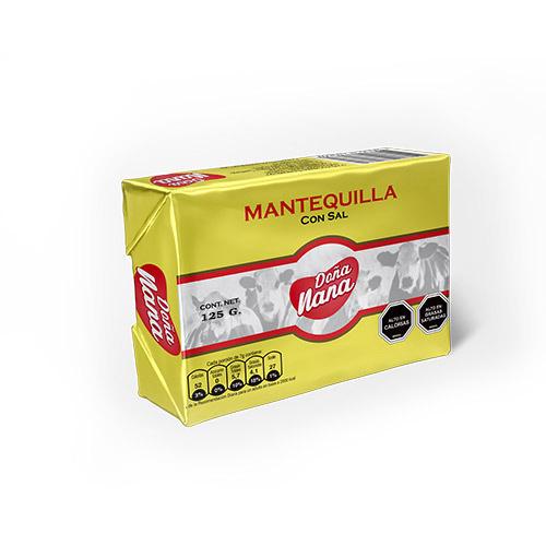 Mantequilla Doña Nana 125 Gr. Caja de 20 unidades